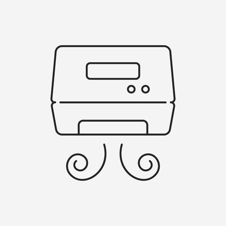 auto washing: Hand dryer line icon