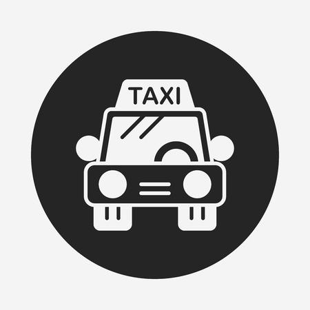 private service: taxi icon Illustration