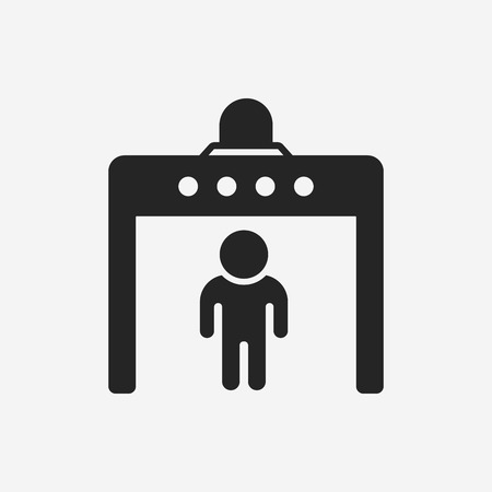 entrance is forbidden: security gate icon Illustration