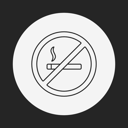abstain: smoke line icon Illustration