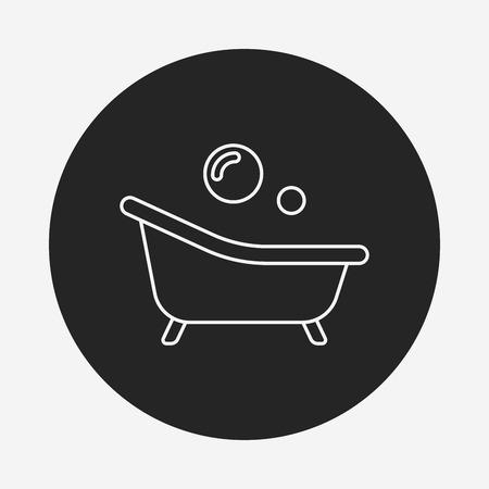 bathtub: bathtub line icon