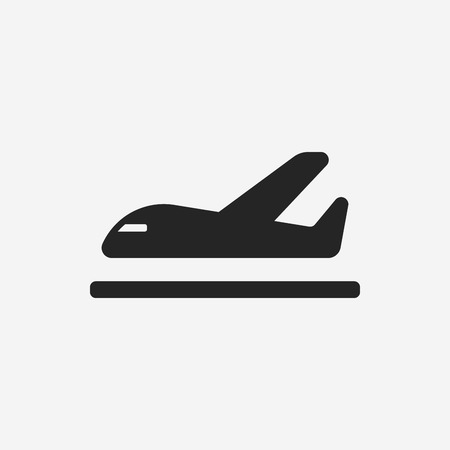 tourist icon: airplane icon