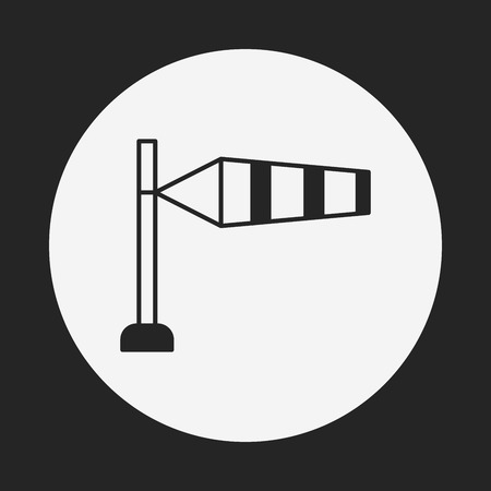 windsock: Measuring wind speed icon