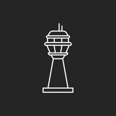 cell tower: Base station line icon