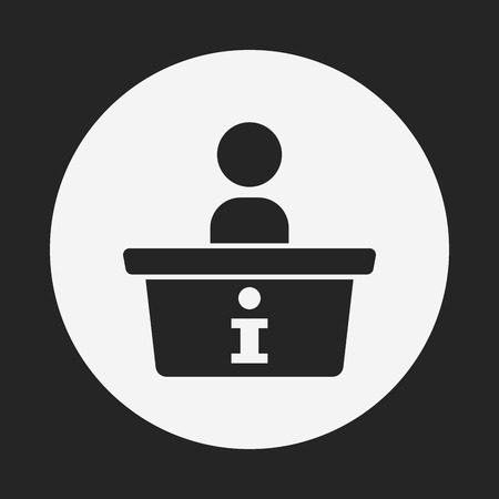 information  isolated: information desk icon Illustration