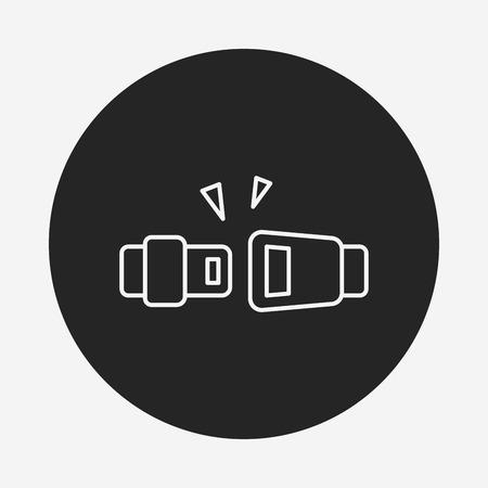 seat belt: seat belt line icon