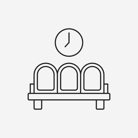 waiting line: airport seat line icon