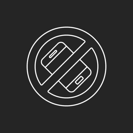 phone line: no phone line icon Illustration