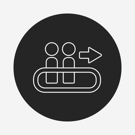 the passenger: passenger line icon