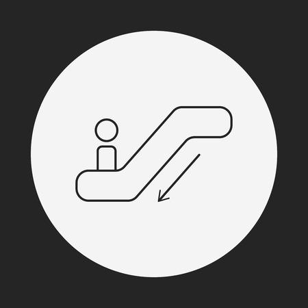 escalator: Escalator line icon Illustration