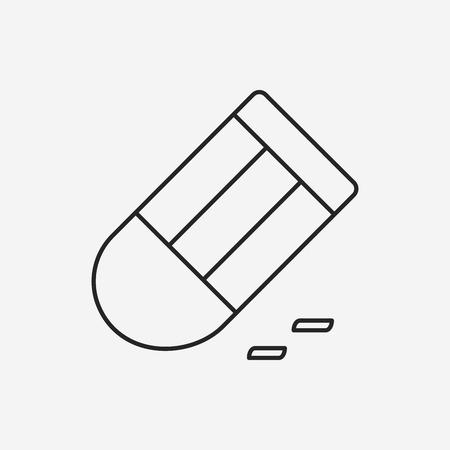 eraser: eraser line icon Illustration