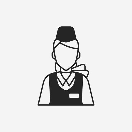 flight attendant: flight attendant icon