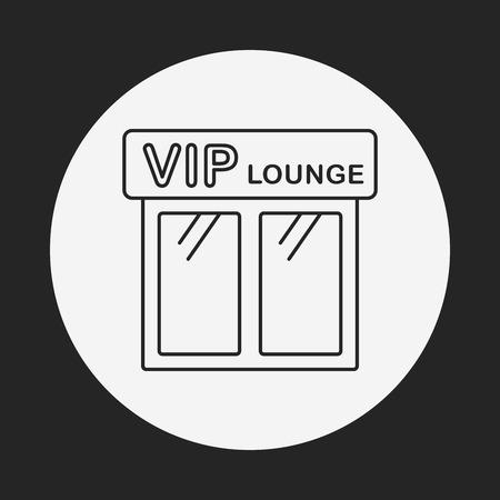 airport vip line icon