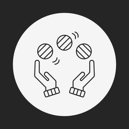 juggling: ball juggling line icon