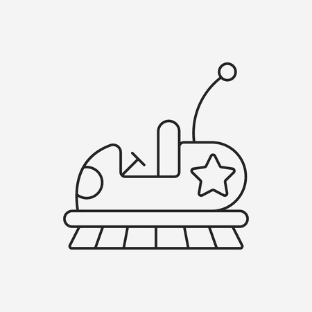 bumper: amusement park bumper cars line icon