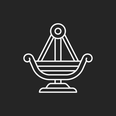 playhouse: amusement park pirate ship line icon