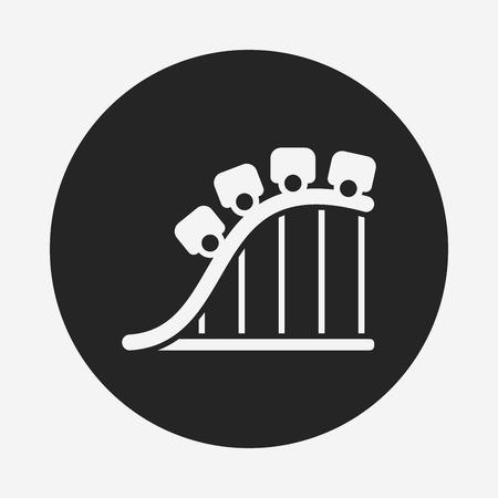 amusement park roller coaster icon