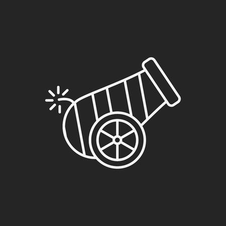 cannon ball: Cannon line icon