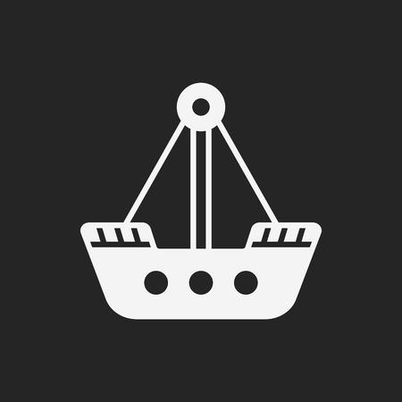 playhouse: amusement park pirate ship icon