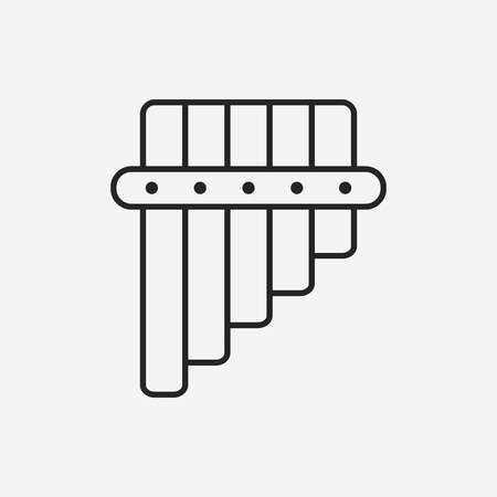 flute: flute line icon Illustration