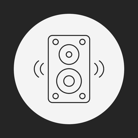 stereo line icon Illustration