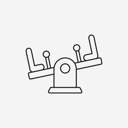 seesaw: playground seesaw line icon