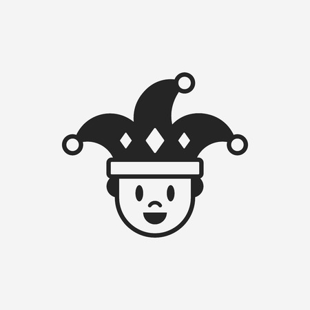 cartoon party: clown icon
