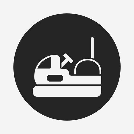 fair play: amusement park bumper cars icon Illustration