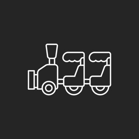 amusment: amusement park train line icon Illustration