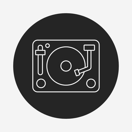 disk: DJ disk line icon