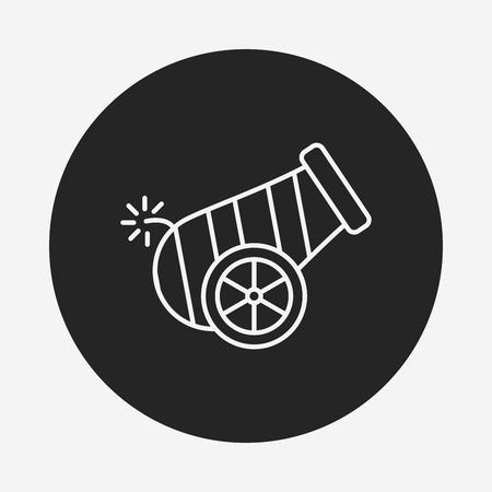 cannonball: Cannon line icon