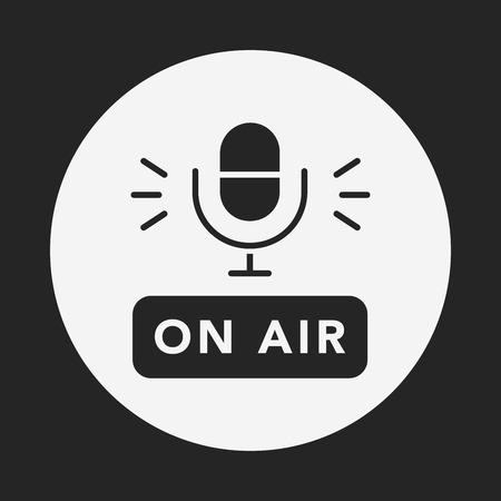 studio microphone: record microphone icon Illustration