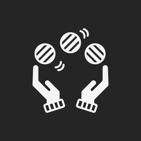 juggling: ball juggling icon Vectores