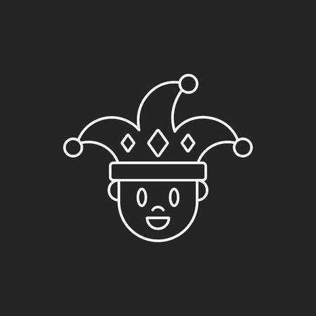 payaso: icono de línea de payaso