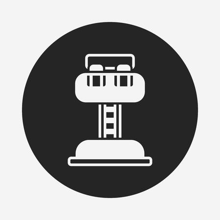 caida libre: parque de atracciones icono de torre de ca�da