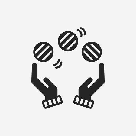 juggling: ball juggling icon Illustration