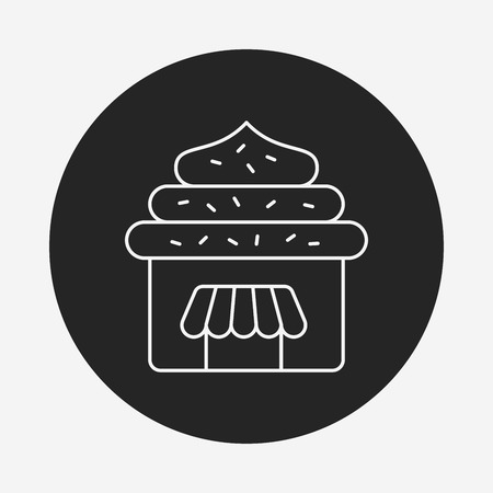 lien: shopping cart line icon