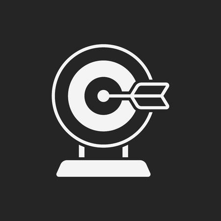 ziel icon: Bogenschie�en-Ziel-Symbol