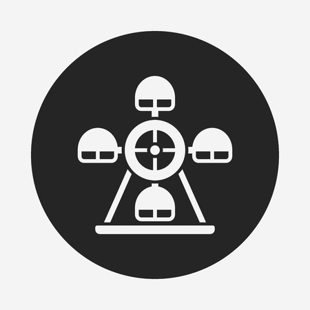 ferris: Ferris wheel icon Illustration