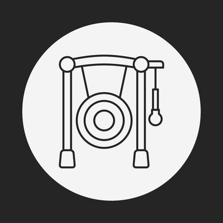 Gong: Gong line icon