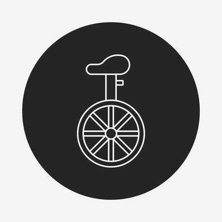 unicycle: Unicycle line icon