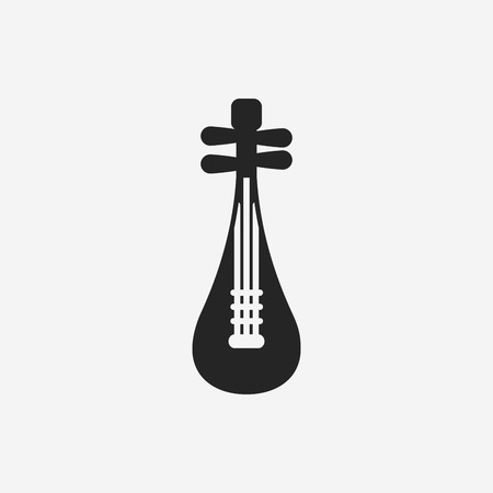 lute: musical instrument Chinese lute icon