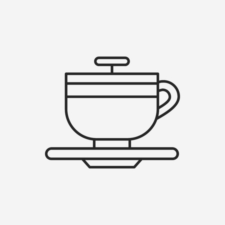 coffeecup: amusement park coffee-cup line icon