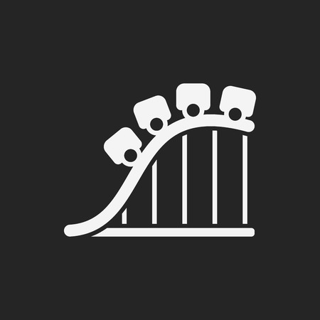 amusement: amusement park roller coaster icon