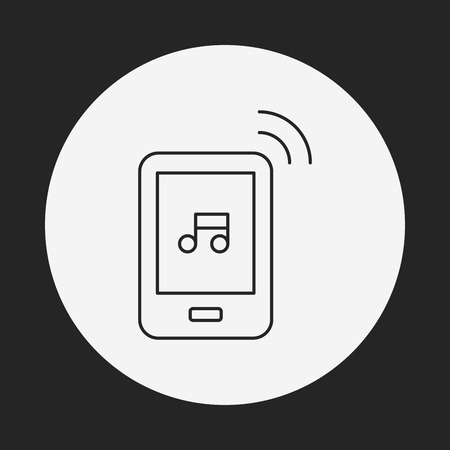 music player: music player line icon