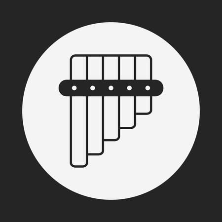 flute: flute icon Illustration