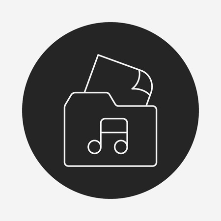 excel: music file line icon