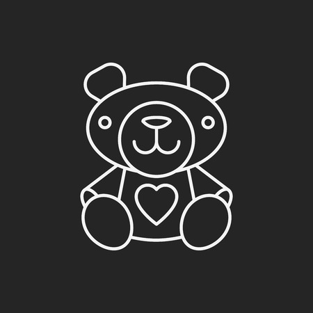 bear doll: bear doll line icon