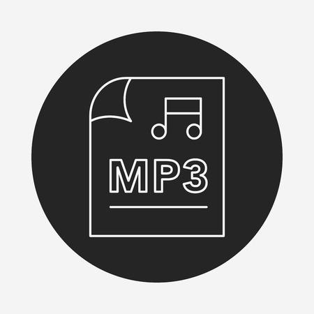 music file line icon