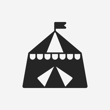 circus background: circus tent icon